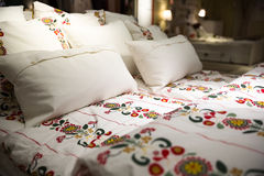 Flower patterned bedding Royalty Free Stock Photos