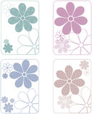 Flower Patterned Designs Royalty Free Stock Photos