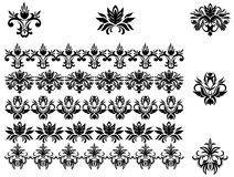 Flower patterns and borders Stock Photo