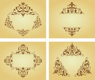 Flower patterns and borders Stock Photography