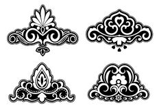 Flower patterns and borders Stock Image