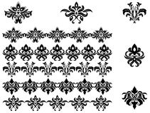 Flower patterns and borders Royalty Free Stock Photography