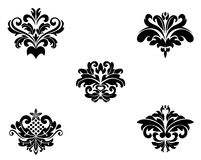 Flower patterns and borders Stock Images