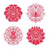Flower patterns of Chinese style Stock Photos