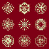 Flower patterns-Chinese traditional decorative elements Royalty Free Stock Images