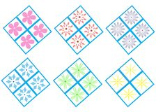 Flower Patterns Stock Photo