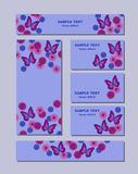 Flower patterns of different sizes with butterflies, daisies and cornflowers. For romantic and easter design vector illustration