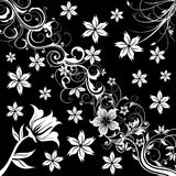 Flower patterns illustration Royalty Free Stock Photography