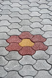 Flower pavement. Pic og flower pavement, clos up Royalty Free Stock Photo