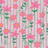 Flower peace in mind seamless pattern royalty free illustration