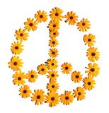 Flower peace sign Stock Photos