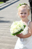 Flower people cute child girl Royalty Free Stock Image