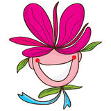 Flower people happy Stock Images