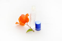 bougainvillea flower perfume aroma, bottle perfume Stock Image