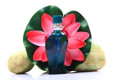 Flower perfume bottle Royalty Free Stock Photos