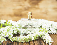 Flower Perfume Bottle Stock Image