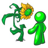 Flower and person illustration Royalty Free Stock Photography