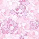 Flower petal. Seamless floral pattern with flower petal stock illustration