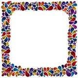 Flower petal frame. Royalty Free Stock Images