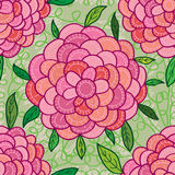 Flower petal line seamless pattern Stock Image