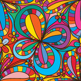 Flower petal small big flower seamless pattern Royalty Free Stock Image