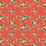 Flower petals Abstract seamless pattern on an orange background  Stock Images