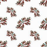 Flower petals abstract vector seamless pattern on a white background Stock Images