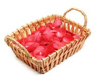 Flower Petals in Basket Royalty Free Stock Photo