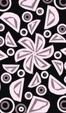 Flower and petals drawing Royalty Free Stock Images