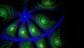 Flower petals fractal ellipse. Flower petals fractal spiral ellipse pearl balls stock illustration