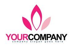Flower Petals Logo. An illustration of a business company logo representing pink flower petals vector illustration