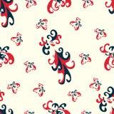 Flower petals seamless vector pattern on a light background wallpaper Stock Image