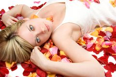 Flower Petals Woman Stock Photography