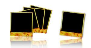 Flower photo frames. Isolated on white background Stock Image