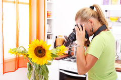 Flower photographer Royalty Free Stock Images