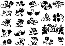 Flower Pictogram Stock Photos