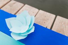 Flower of the pieces of paper Stock Image
