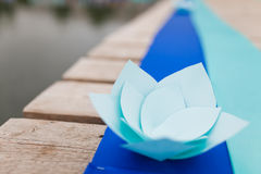 Flower of the pieces of paper Royalty Free Stock Photos