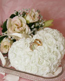 Flower Pillow Ring Holder Royalty Free Stock Photos