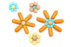 Flower Pills Stock Photos