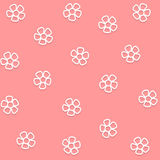 Flower Pink Background icon great for any use. Vector EPS10. Stock Photos