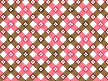 Flower pink and brown plaid vector illustration