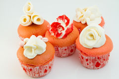 Flower Pink Cupcakes Royalty Free Stock Images