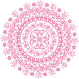 Flower pink round design Stock Photography