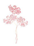 Flower pink tint embossed Royalty Free Stock Photo