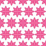 Flower pink white stroke symmetry seamless pattern. This illustration is design flower pink with white stroke symmetry in seamless pattern on white color royalty free illustration