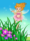 A flower pixie at the garden Stock Photo