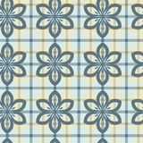 Flower plaid Stock Photos