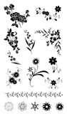 Flower and plant pattern Royalty Free Stock Photography