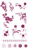 Flower and plant pattern Stock Images